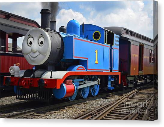 Thomas The Engine Canvas Print