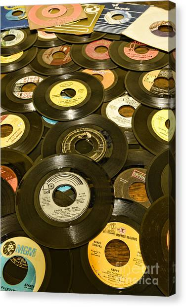 Ward Canvas Print - Those Old 45s by Paul Ward