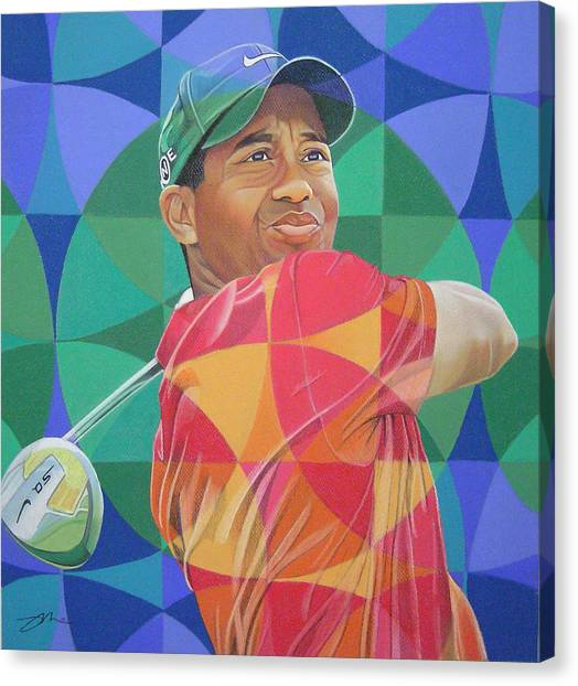 Tiger Woods Canvas Print - Tiger Woods by Joshua Morton