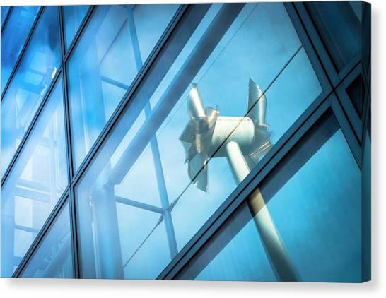 Installation Art Canvas Print - Tilted Windmills Sculpture by Dan Dunkley