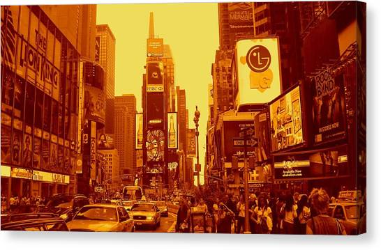 42nd Street And Times Square Manhattan Canvas Print