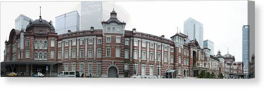 Bullet Trains Canvas Print - Tokyo Station by David Bearden