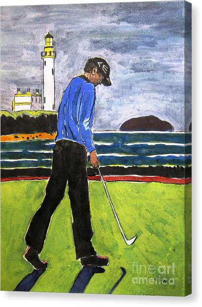 Tom Watson Turnberry 2009 Canvas Print by Lesley Giles