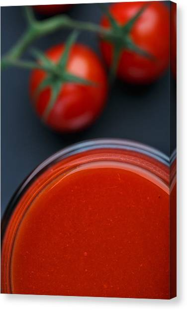 Cherry Tomato Canvas Print - Tomato Juice by Nailia Schwarz