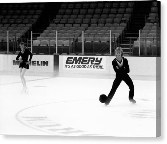 Hat Trick Canvas Print - Torvill And Dean by Nancy Clendaniel