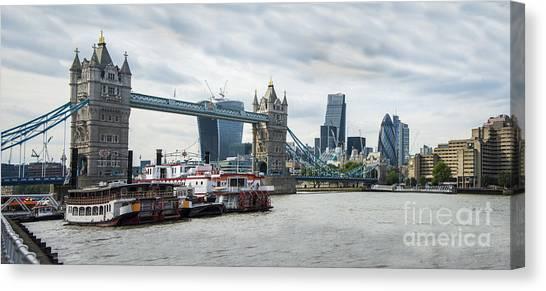 Tower Bridge London Canvas Print by Donald Davis