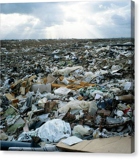 Toxic Waste Dump Canvas Print by Robert Brook/science Photo Library