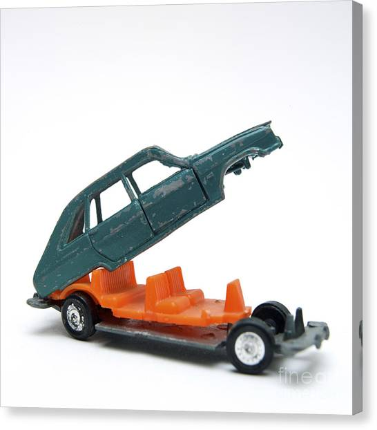 Carcass Canvas Print - Toy Car by Bernard Jaubert