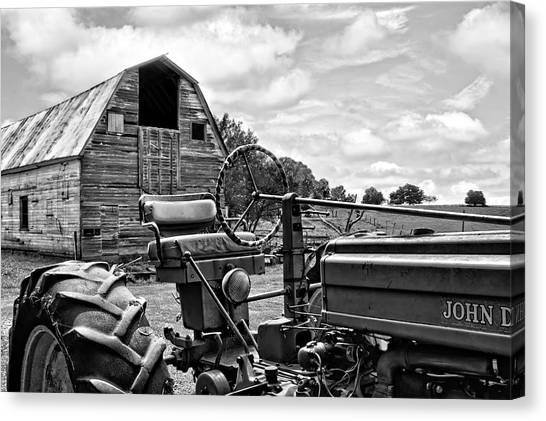 Tractor Barn Canvas Print