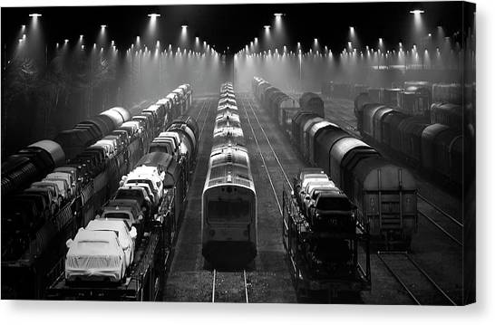 Freight Trains Canvas Print - Trainsets by Leif L?ndal