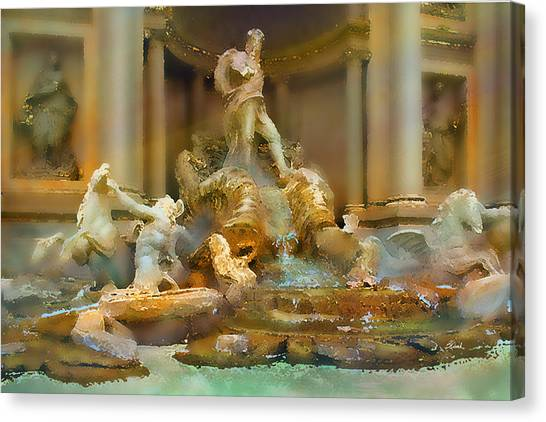Trevi Fountain Canvas Print by Bill Quick