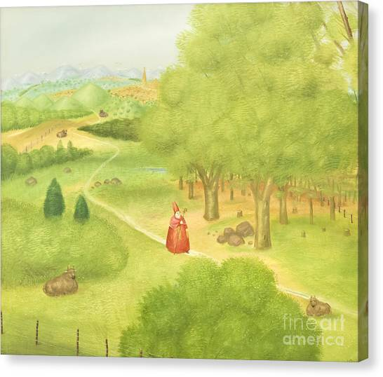 The Vatican Museum Canvas Print - Trip To The Ecumenical Council By Fernando Botero by Roberto Morgenthaler