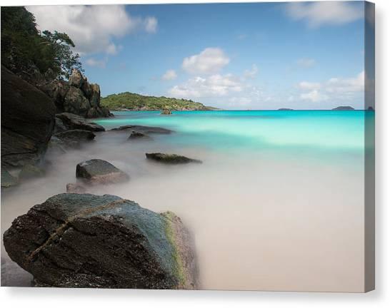 Trunk Bay At St. John Us Virgin Islands Canvas Print