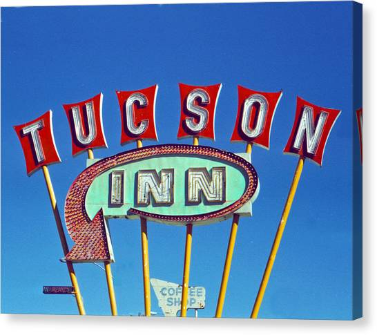 Retro Canvas Print - Tucson Inn by Matthew Bamberg