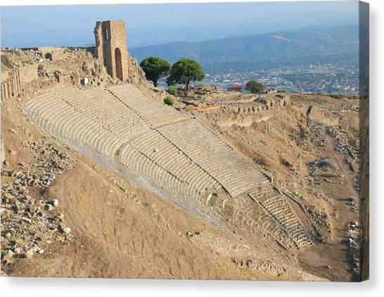 The Acropolis Canvas Print - Turkey, Izmir Province, Bergama by Emily Wilson