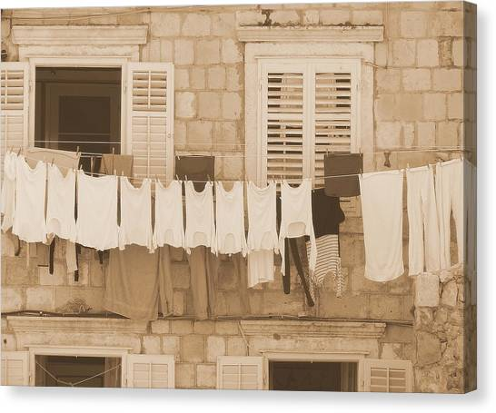 Tuscan Laundry Canvas Print