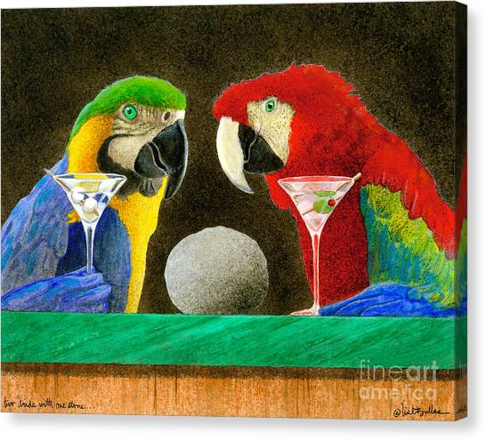 Two Birds With One Stone... Canvas Print