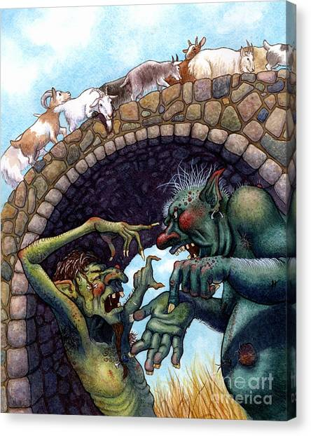 Fairy Canvas Print - 2 Ugly Trolls by Isabella Kung