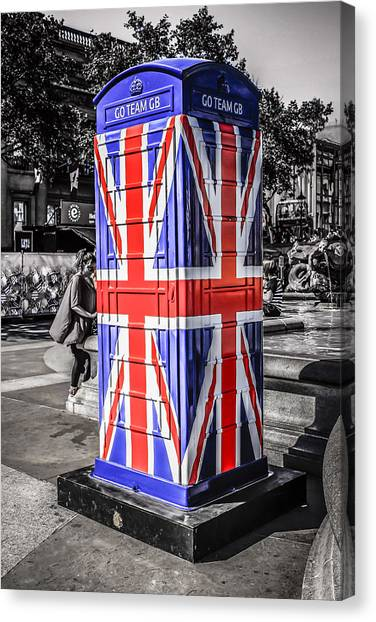 Union Jack Phone Canvas Print