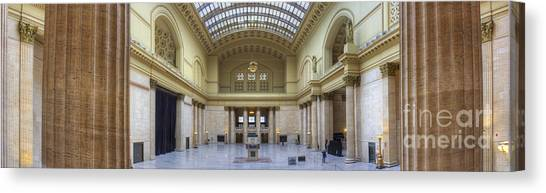 Amtrak Canvas Print - Union Station In Chicago by Twenty Two North Photography