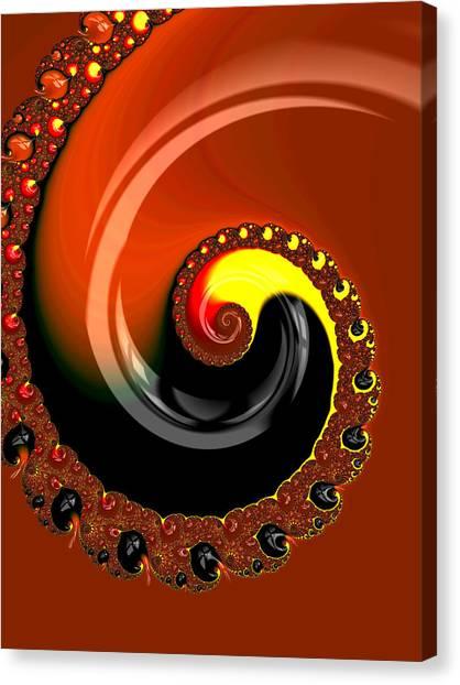 Yoga Canvas Print - Unique Fractal - Untitled by Esoteric Art