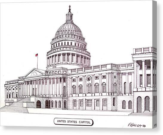 United States Capitol Canvas Print