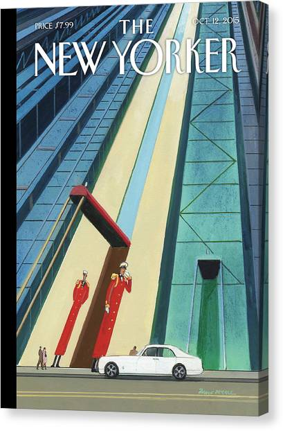 New Yorker October 12th, 2015 Canvas Print by Bruce McCall