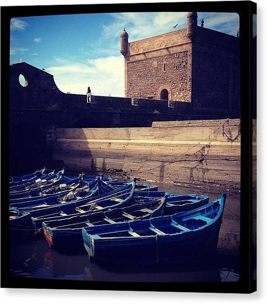 Fishing Boats Canvas Print - Untitled by Pip Shea