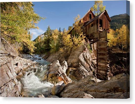 Colorado Rapids Canvas Print - Usa, Colorado, Gunnison National Forest by Jaynes Gallery