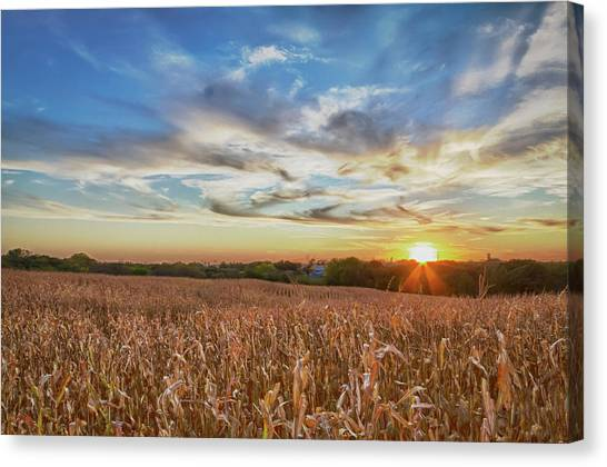 Usa, Nebraska, Near Omaha Canvas Print by Christopher Reed