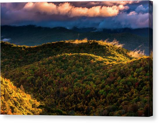 Pisgah National Forest Canvas Print - Usa, North Carolina, Brevard by Jaynes Gallery