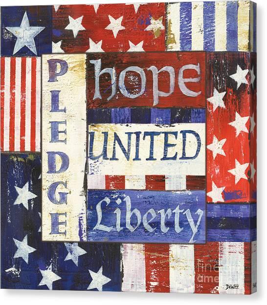 Pride Canvas Print - Usa Pride 1 by Debbie DeWitt