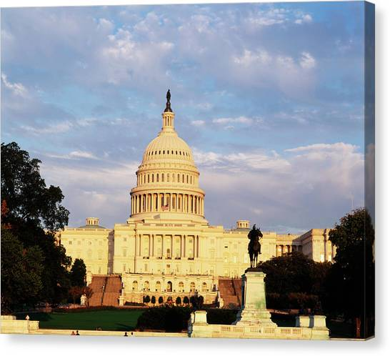 Capitol Building Canvas Print - Usa, Washington Dc, Capitol Building by Walter Bibikow