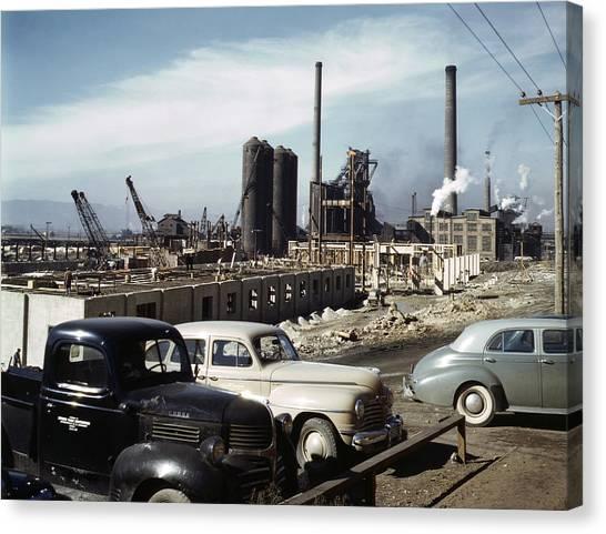 Utah Steel Mill, 1942 Canvas Print by Granger