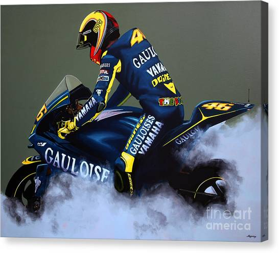 Yamaha Canvas Print - Valentino Rossi by Paul Meijering