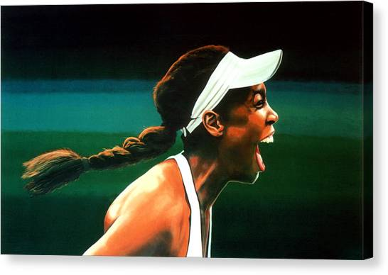 Tennis Players Canvas Print - Venus Williams by Paul Meijering