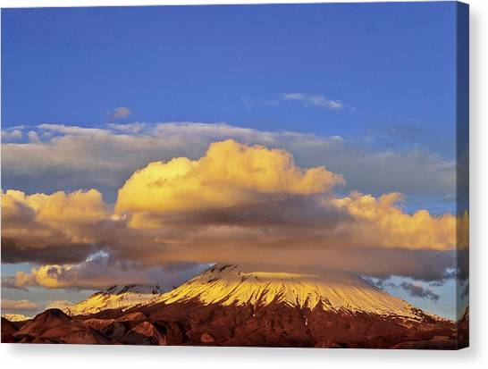 Andes Mountains Canvas Print - Volcano Parinacota (6342m by Martin Zwick