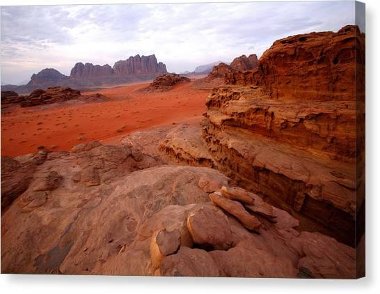 Jordan Canvas Print - Wadi Rum Desert, Jordan by David Santiago Garcia