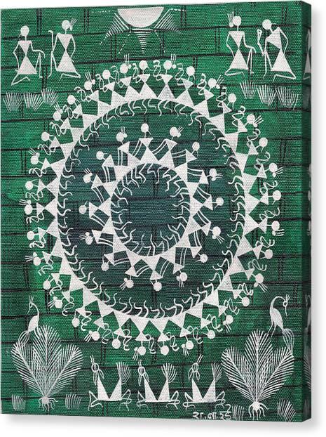 Tribal Dance Canvas Print