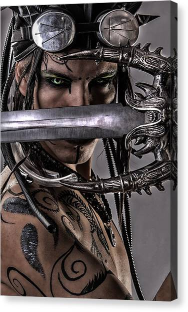Video Games Canvas Print - Warrior Elf by Daiana Sioui