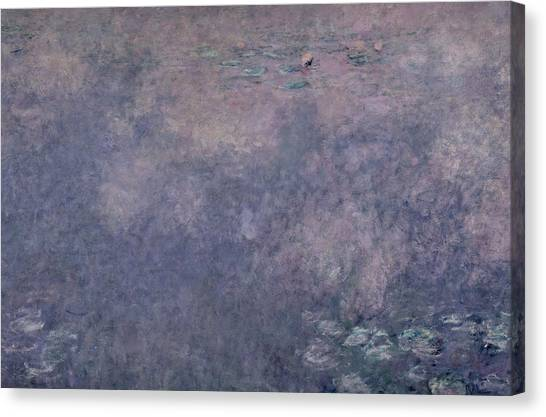 Weeping Willows Canvas Print - Waterlilies Two Weeping Willows by Claude Monet