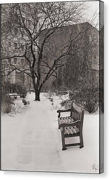 West Village Snow  Canvas Print