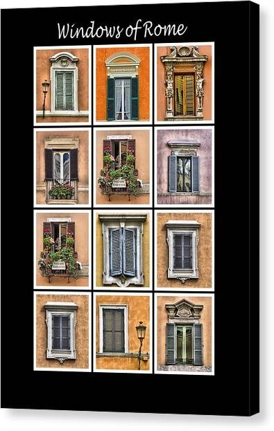 Windows Of Rome Canvas Print