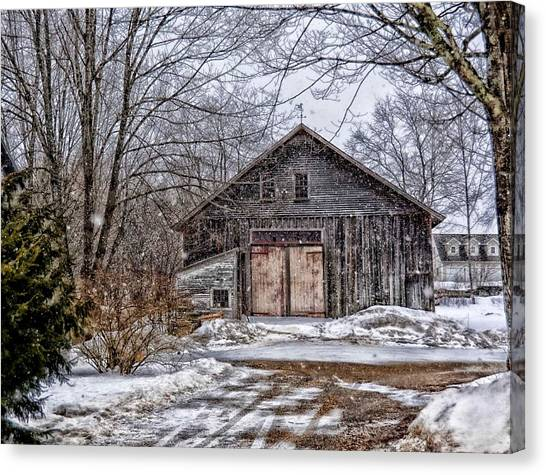 Winter At The Farm Canvas Print