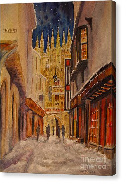 Winter In Canterbury Canvas Print