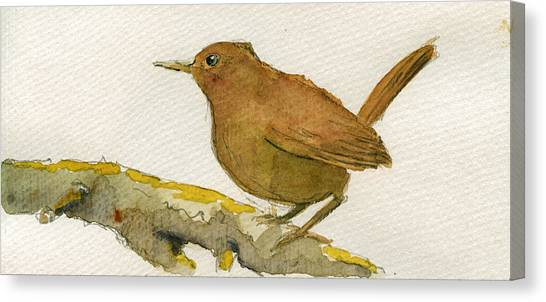 Wrens Canvas Print - Wren Bird by Juan  Bosco