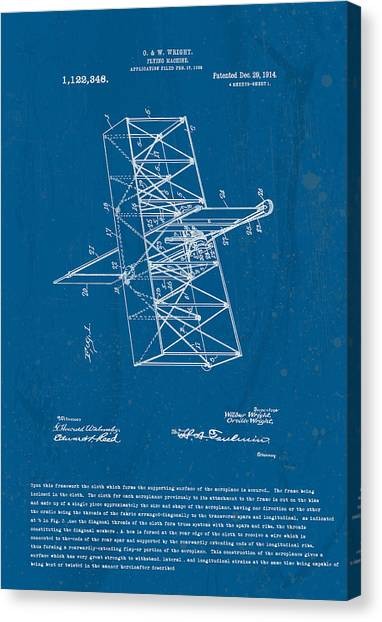 Wright Brothers Flying Machine Patent Canvas Print