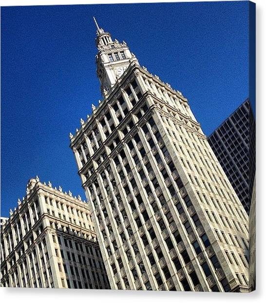 Skylines Canvas Print - Wrigley Building- Chicago by Mike Maher