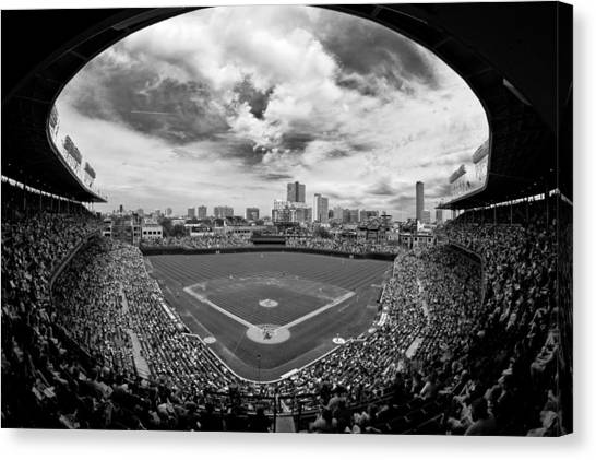 Baseball Teams Canvas Print - Wrigley Field  by Greg Wyatt