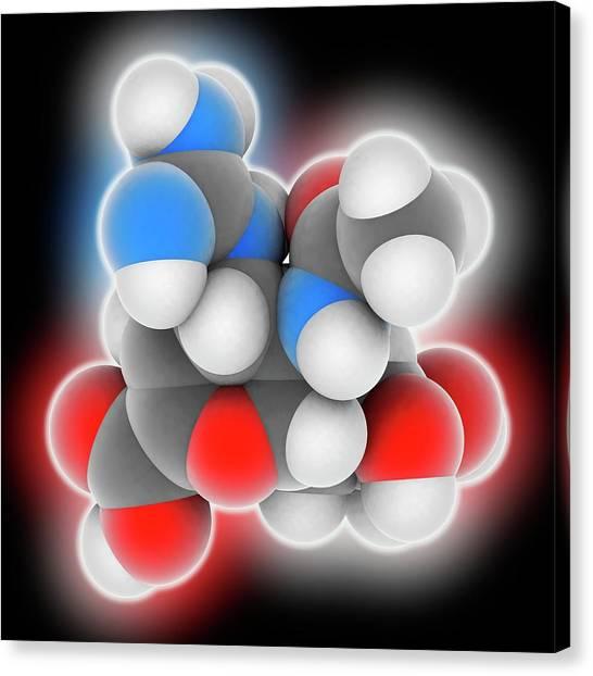 Biochemistry Canvas Print - Zanamivir Drug Molecule by Laguna Design